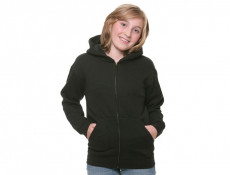 Kids Hooded Zip Sweat